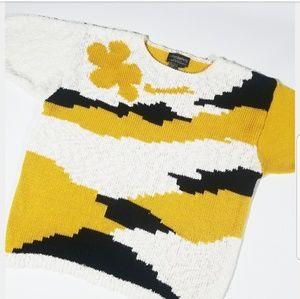 VTG Colorblock 80s 90s Mod Sweater Shirt